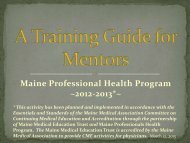 Mentor's - Maine Medical Association