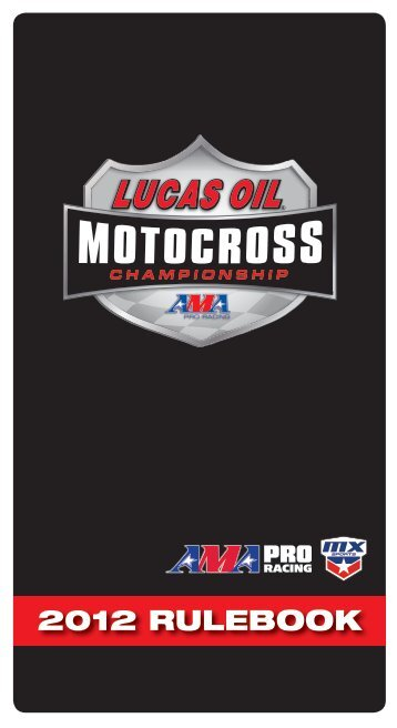 2012 RULEBOOK - MX Sports Pro Racing - Racersites