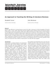 An Approach to Teaching the Writing of Literature Reviews