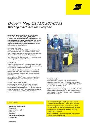 Origo™ Mag C171/C201/C251