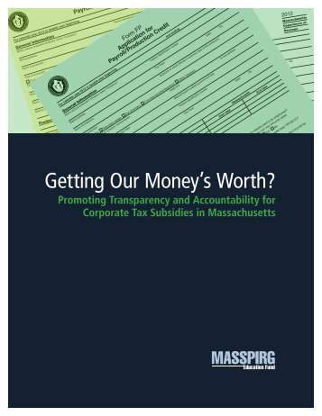 Download Getting Our Money's Worth 030813.pdf - Frontier Group