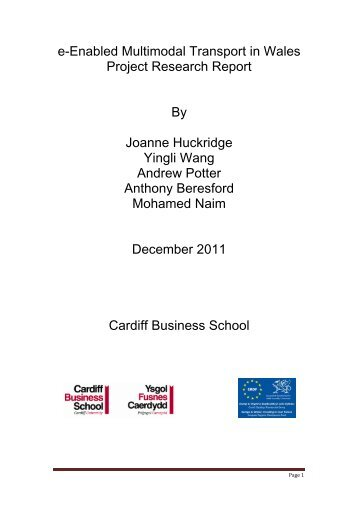 e-Enabled multimodal transport in Wales Final Report - Cardiff ...