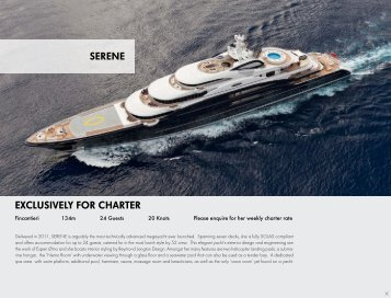 EXCLUSIVELY FOR CHARTER SERENE - Paradise Yacht Charters