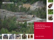 Presentasjon avfallshåndtering skytefelt - Forsvarsbygg