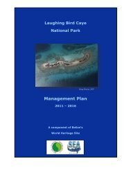 Laughing Bird Caye National Park Management Plan - NODC - NOAA