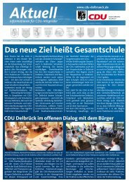 Das neue Ziel heißt Gesamtschule - CDU Delbrück
