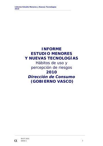 INFORME ESTUDIO MENORES Y NUEVAS TECNOLOGÍAS ...