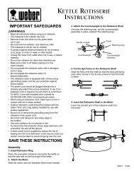 KETTLE ROTISSERIE INSTRUCTIONS - Weber