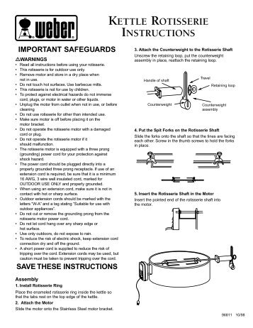 KETTLE ROTISSERIE INSTRUCTIONS - Weber