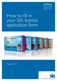 How to fill in your SIA licence application form - Security Industry ...