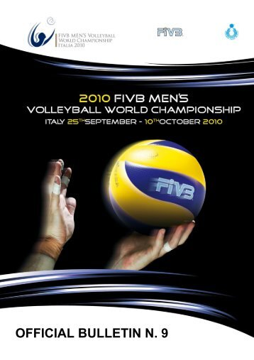 OFFICIAL BULLETIN N. 9 - Le Marche del Volley