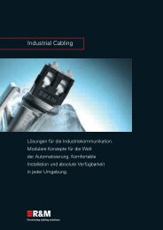 PDF Datei: Broschüre / R&M / Industrial Cabling Broschüre