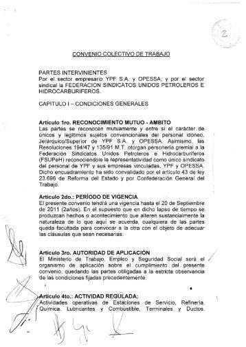 CONVENIO COLECTIVO DE TRABAJO PARTES ... - Laboralis