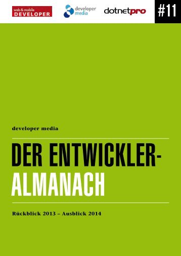 Der Entwickler- Almanach