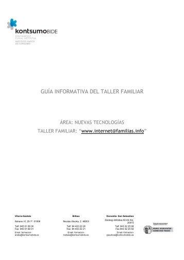 Dossier pedagógico tallerfamiliarinternet - Portal del Instituto Vasco ...