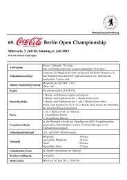 Ausschreibung - Der Golf- und Land-Club Berlin-Wannsee eV