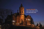 Syracuse University is a place where talent, desire, and opportunity ...