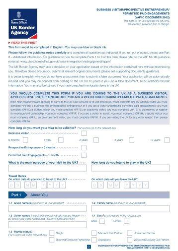 VaF1c - UK Border Agency - the Home Office