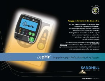 ZepHr™ Impedance/pH Reflux Monitoring System - Sandhill Scientific
