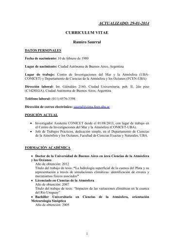Ramiro Saurral - Centro de Investigaciones del Mar y la Atmosfera