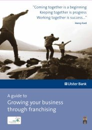 Growing your business through franchising - Ulster Bank