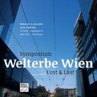 Symposium Lust & Last - Europaforum Wien