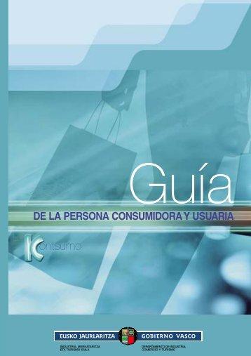 Guía de la persona consumidora y usuaria - Euskadi.net