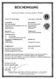 BESCHEINIGUNG - BOS FOOD GmbH