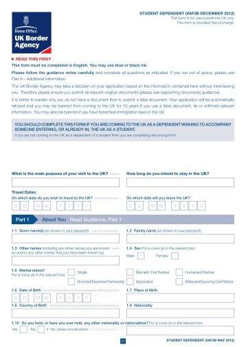 VAF3B application form - UK Border Agency - the Home Office
