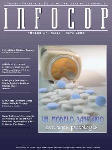 NUMERO 37. Marzo - Mayo 2008 - Consejo General de Colegios ...