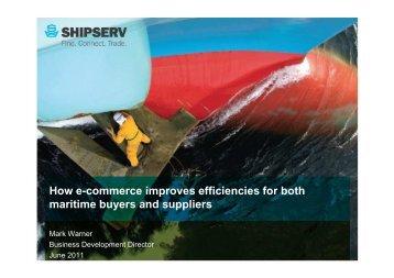 How e-commerce improves efficiencies for both maritime ... - Wärtsilä