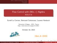 Flow Control with (Min,+) Algebra - ISOLA'10 - IstiA