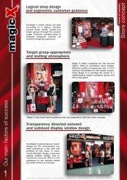 Factor of success: Shop concept - Magic X