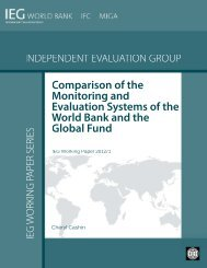 Comparison of the Monitoring and Evaluation Systems ... - World Bank