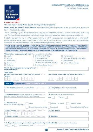 VAF8A application form - UK Border Agency - the Home Office