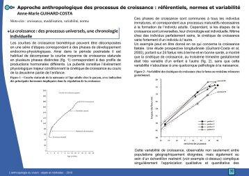 Approche anthropologique des processus de croissance - CNRS ...