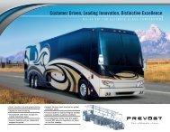 Customer Driven, Leading Innovation, Distinctive Excellence - Prevost