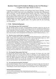 Vorgaben Bachelorarbeit: - Biostudium.uni-wuerzburg.de
