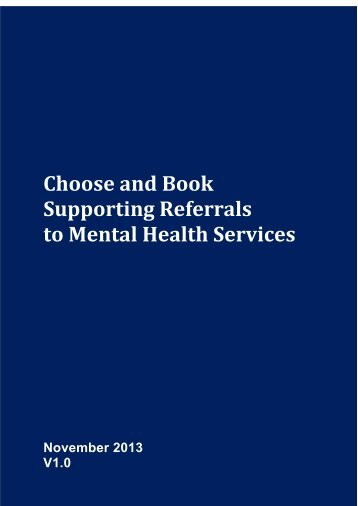 Best Practice Guidance for managing referrals ... - Choose and Book