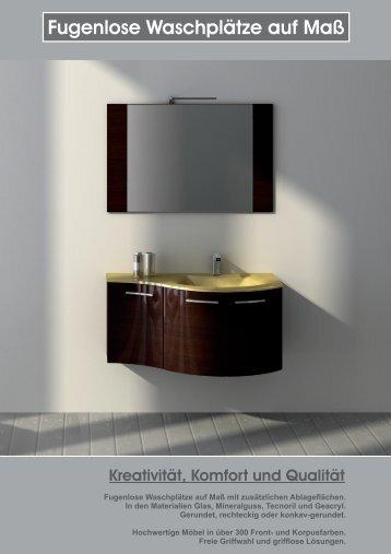 Fugenlose Waschplätze auf Maß - Beispiele - Konz & Schaefer