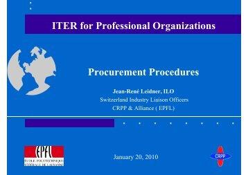 Procurement Procedures - Iter Industry