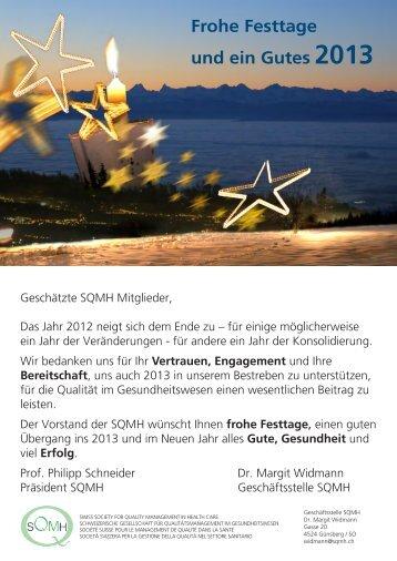 Frohe Festtage und ein Gutes 2013 - SQMH