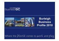 Burleigh Business Profile 2010 - Business Gold Coast