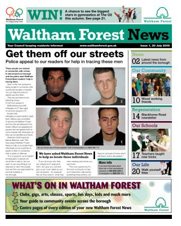 Get them off our streets - Waltham Forest Council