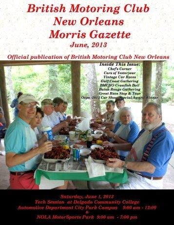 June - British Motoring Club New Orleans