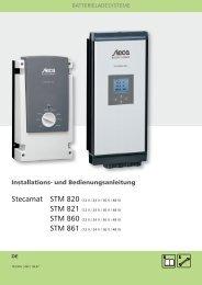 DE Bedienungsanl. Stecamat 821 - Solarbag-Shop