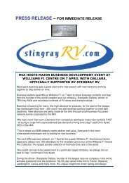 press release - Motorsport Industry Association