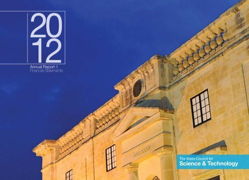 Annual Report 2012 - The Malta Council for Science & Technology