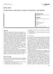 Leukotrienes, leukotriene receptor antagonists, and rhinitis