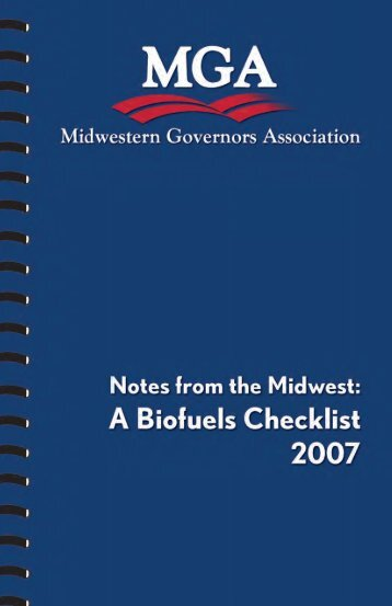 A Biofuels Checklist - Midwestern Governors Association